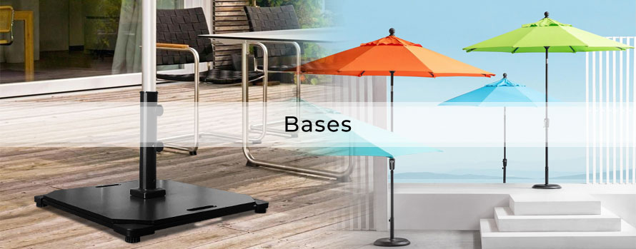 Umbrella Baseplates and umbrella stands | Steel, Concrete