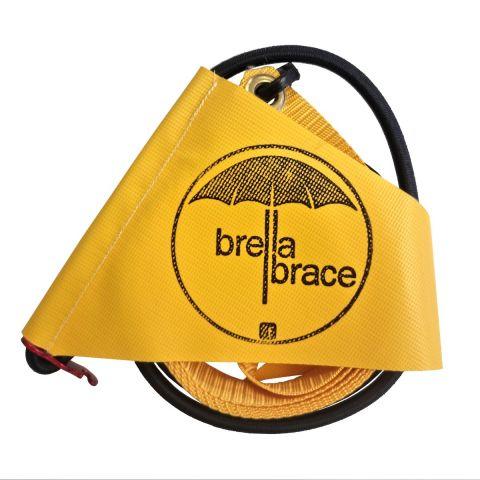 Brella Brace for Beach Umbrella Securing System