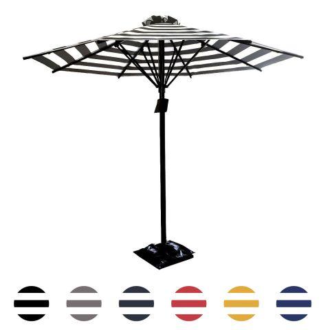 Café Courtyard Stripe Umbrella