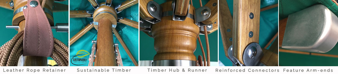 Sunranger Timber Umbrella Features