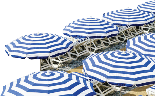 Beach Umbrellas Menu Background